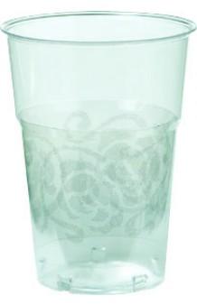 Vasos Cristal Plata (Plástico), 10 uds.