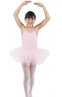Tutú & Maillot Ballet Infantil Blanco/Rosa