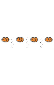 """Guirnalda """"40"""", 3 m."""