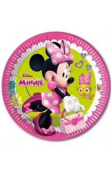 Platos Minnie Mouse, 8 uds. (23 cm.)