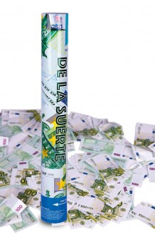 Cañón Confetti Billetes Euro, 40 cm.