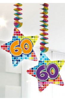 "Colgantes ""60"" Estrella, 75 cm. (2 uds.)"
