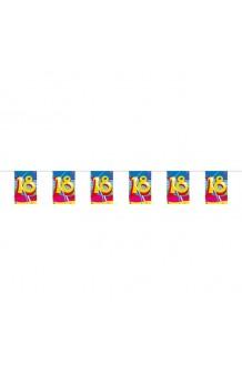 "Mini Banderas ""18"", 4 m."