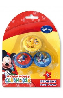 Kit 3 Peonzas Mickey