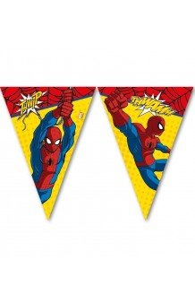 Guirnalda Banderines Spiderman, 230 cm.