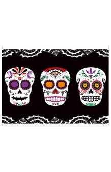 """Mantel """"Día de los Muertos"""", 182 X 137 cm."""
