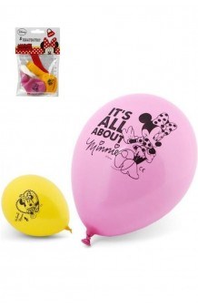 Globos Minnie Mouse, 5 uds.