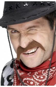 Bigote Cowboy Marrón