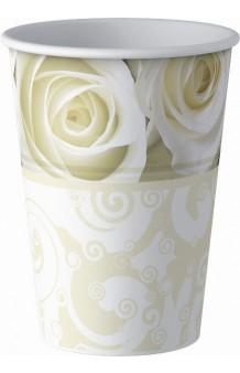 Vasos Rosas Blancas, 8 uds.