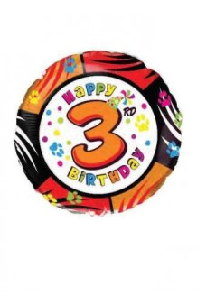 "Globo ""Happy Birthday"" Nº 3, 46 cm."