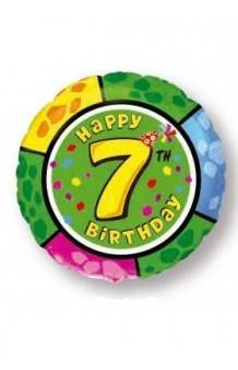 "Globo ""Happy Birthday"" Nº 7, 46 cm."
