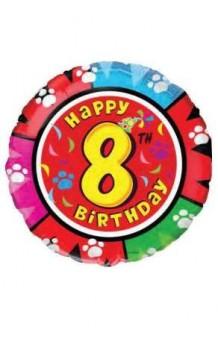 "Globo ""Happy Birthday"" Nº 8, 46 cm."