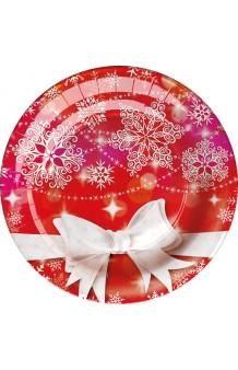 Platos Christmas 23 cm., 8 uds.