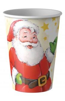 Vasos Papa Noel, 8 uds.