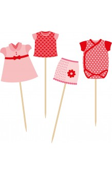 Set 24 Picks Rosas Baby Shower