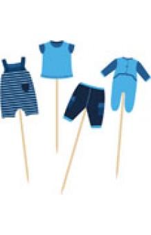 Set 24 Picks Azules Baby Shower