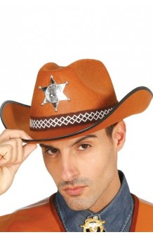 Sombrero Sheriff Adulto Marrón Fieltro