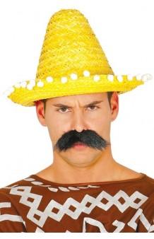 Sombrero Mejicano Amarillo, 33 cm.