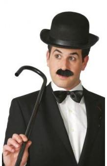 Bastón Negro Charlot, 80 cm.