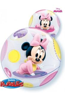 Globo Burbuja Disney Baby Minnie, 56 cm.