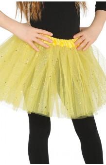 Tutú Amarillo Infantil Glitter