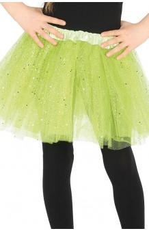 Tutú Verde Infantil Glitter