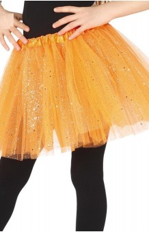 Tutú Naranja Infantil Glitter