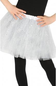 Tutú Blanco Infantil Glitter