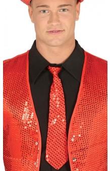 Corbata Roja Lentejuelas