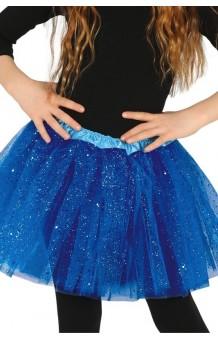 Tutú Azul Oscuro Infantil Glitter