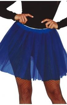 Tutú Azul Oscuro Adulta, 40 cm.