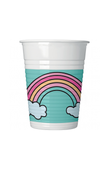 Vasos Unicornio Party, 8 uds.