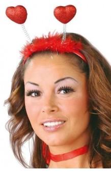 Diadema Corazones Rojos