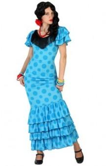 Disfraz Sevillana Azul. AGOTADO.