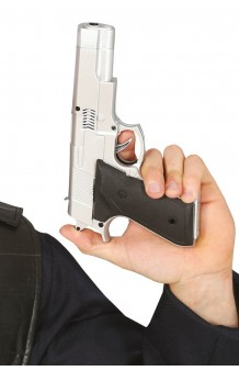 Pistola Plateada, 24 cm.