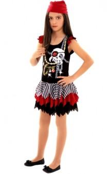 Disfraz Pirata Calavera Niña