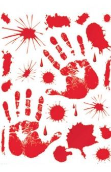 Set Adhesivos Sangre, 39 x 30 cm.