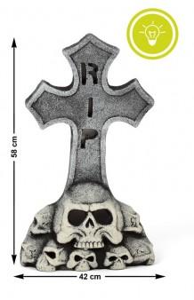 Lápida Cruz, 58 x 42 cm. (con Luz)