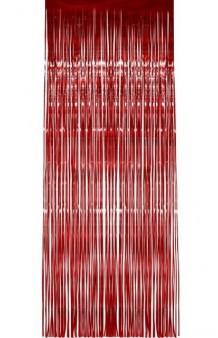Cortina Roja, 244 x 91 cm.