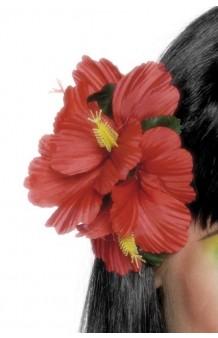 Clip Flores Hawaianas Rojas