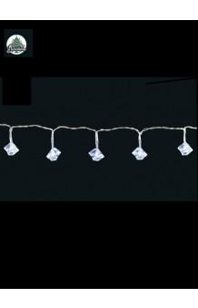 Guirnalda Luminosa 15 Cubitos Hielo LED (con pilas), 2 m.