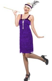 Disfraz Charlestón Púrpura T. M