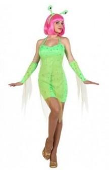 Disfraz Chica Alien Verde