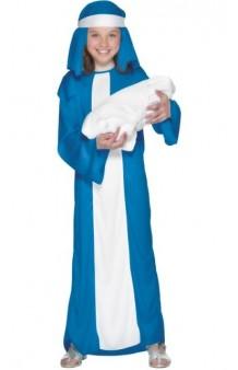 Disfraz Virgen Azul 4-6 años