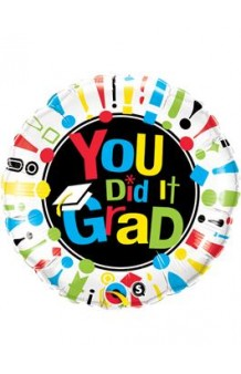 "Globo Graduado ""You Did it Grad"", 46 cm."
