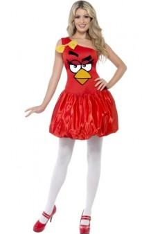 Disfraz Lady Angry Bird Rojo (Licensed)
