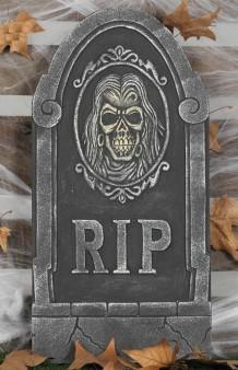 Lápida Calavera RIP, 65 cm.