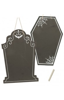 Pizarra Halloween + Tiza, 38 x 25 cm.