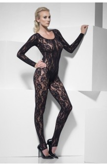 Body Stocking Lace Negro