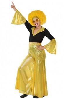 Disfraz Disco Oro Chica